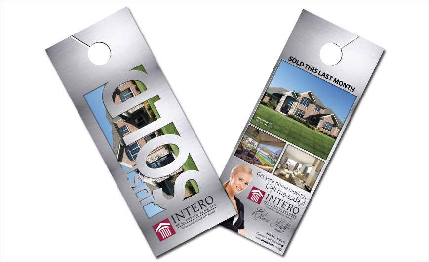 Custom Intero Real Estate Door Hangers, Intero Real Estate Door Hanger  Templates, Intero Real Estate Door Hanger Designs, Intero Real Estate Door  Hanger ...