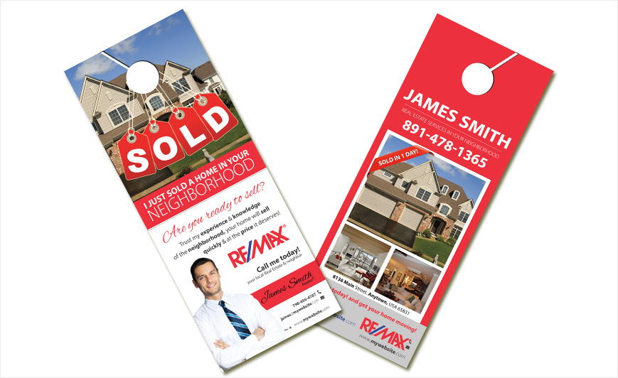 Custom Remax Door Hangers, Remax Door Hanger Templates, Remax Door Hanger  Designs, Remax Door Hanger Printing And Remax Door Hanger Ideas.