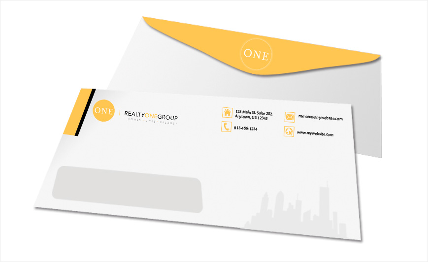 Realty One Group Envelopes | Realty One Group Envelope Templates