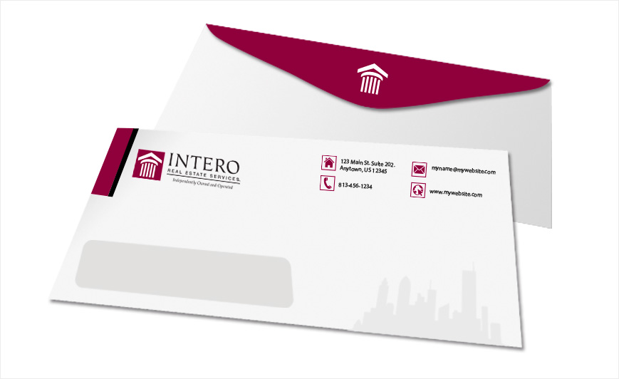 intero real estate envelopes intero real estate envelope templates