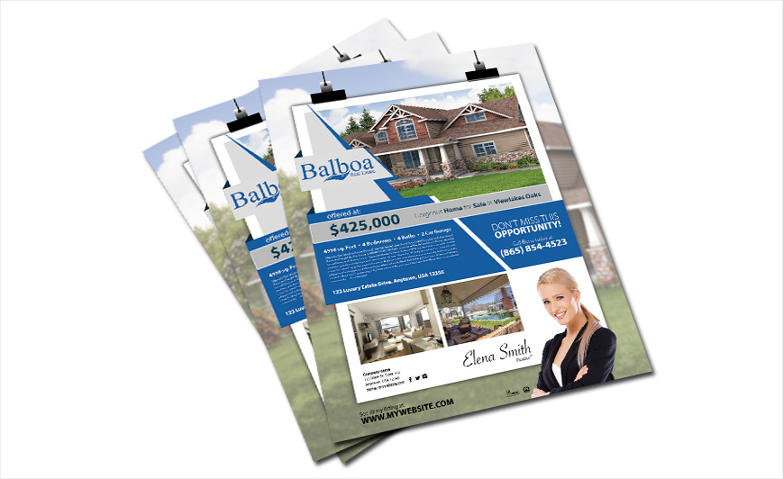 Balboa Real Estate Flyers | Balboa Real Estate Flyer Templates