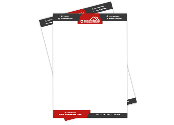 Real Estate Letterheads | Real Estate Agent Letterheads, Real Estate Office Letterheads, Realtor Letterheads, Real Estate Broker Letterheads