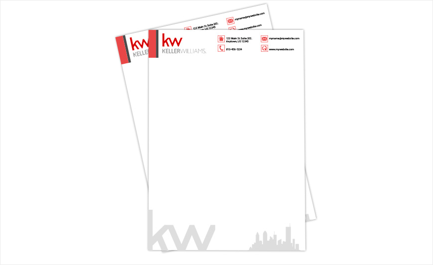Custom Keller Williams Letterheads Letterhead Templates Designs Printing And