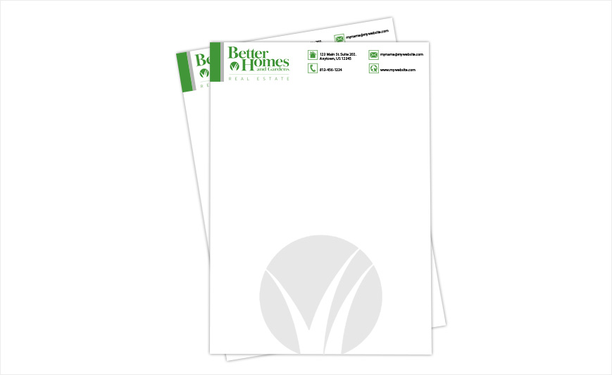 Custom Better Homes And Gardens Letterheads, Better Homes And Gardens  Letterhead Templates, Better Homes And Gardens Letterhead Designs, Better  Homes And ...