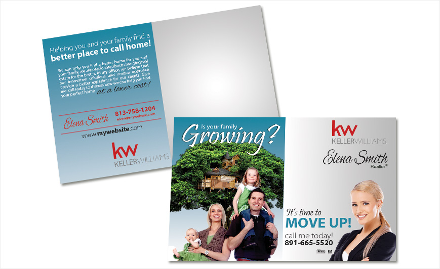 Keller Williams Postcards Keller Williams Postcard Templates - Custom postcard template