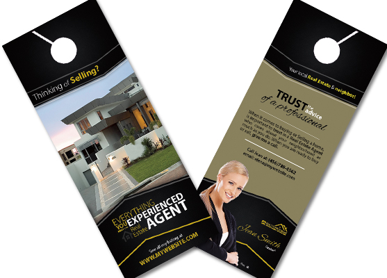 Real Estate Door Hangers  Real Estate Agent Door Hangers