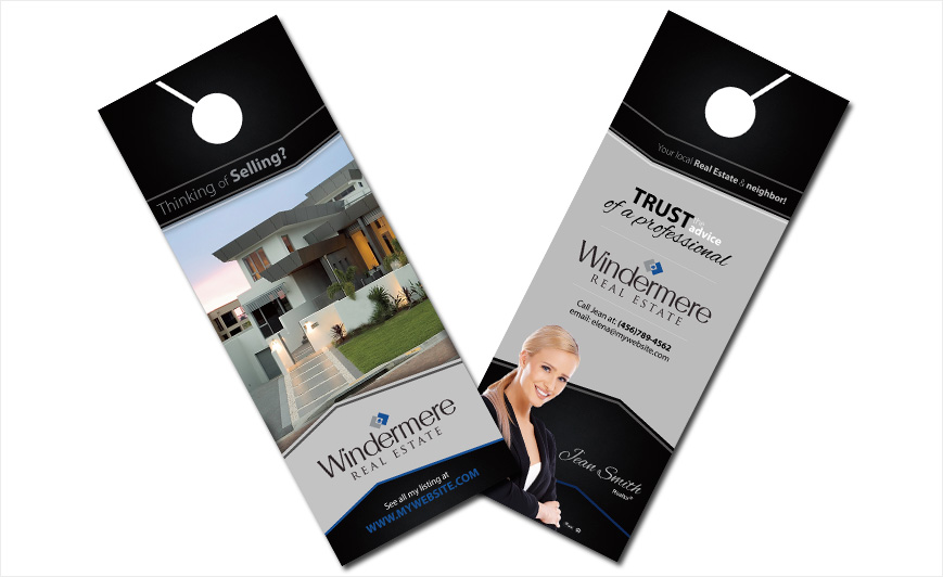 Windermere Real Estate Door Hangers Windermere Door Hanger Ideas - Real estate door hanger templates
